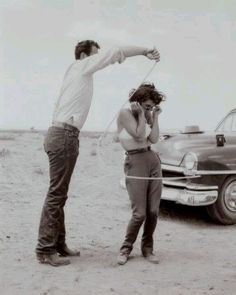 Giant rope practice. James Dean. Elizabeth Taylor.