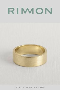 wide gold ring , wide wedding band , wide wedding ring , yellow gold wedding ring , wide ring gold , 14k wedding band , simple wedding ring #weddingband #weddingring #rimon #goldring