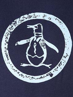 An Original Penguin: circle logo t-shirt.