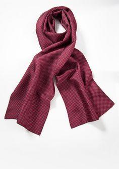 Long Silk Scarf for Men Navy Theme Paisley Pattern SFM013