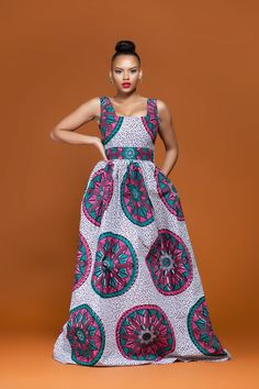 African Print Sotho Maxi Dress