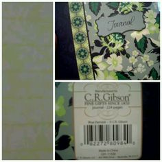 My blue damask journal by C. R. Gibson. Love the pages. Got my green!
