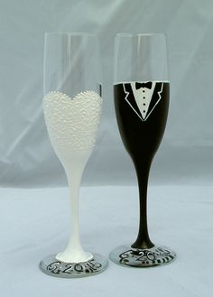 Wedding crafts diy bride and groom glasses darice pinterest wedding toast flutes bride and groom champagne by embellishcraft more solutioingenieria Choice Image