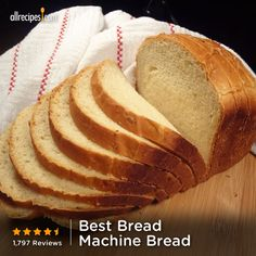 Just five ingredients are needed for this super easy bread. Repin for bread machine deliciousness. (Best Bread Machine Bread) http://allrecipes.com/video/710/bread-machine-bread/detail.aspx?lnkid=7171