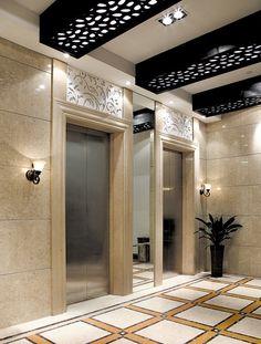 ... Black design for ceiling of office building corridor
