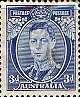 Australia 1938 SG 186 King George Fine Mint SG 186 Scott 183 Condition Fine MNH Only one post charge applied on multiple purchases Details N B With