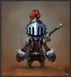 """He never was seen without his armor lest he suffer again the humiliation of being called """"cute""""."""