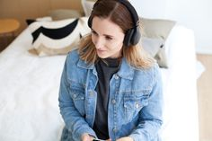 Denim Jacket | Grey College Shirt | Headphones | Turku Finland Summer | Jadeyolanda.fi Finland Summer, Turku Finland, College Shirts, Gray Jacket, My Outfit, Headphones, Denim, Grey, Jackets