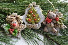 Oliwia Art Deko: Choinki, reniferki i miśki świąteczne :)