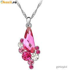Colier ANGEL DROP rose cu cristale swarovski