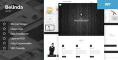 Belinda - Agency & Portfolio Theme by krazicode  Belinda is a modernistic agency wordpress theme with an emphasis on typography and attention to detail. Show off your latest work