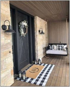 If you are looking for Fall Porch Farmhouse Style, You come to the right place. Below are the Fall Porch Farmhouse Style. This post about Fall Porch Farmhou. Farmhouse Front Porches, Farmhouse Homes, Farmhouse Ideas, Country Farmhouse Decor, Farmhouse Style, Craftsman Porch, Farmhouse Bedroom Decor, Farmhouse Outdoor Decor, Diy Bedroom