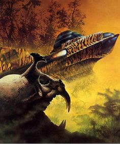 sci-fi art by Angus McKie. Sci Fi Kunst, Science Fiction Kunst, Jean Yves, 70s Sci Fi Art, Classic Sci Fi, Sci Fi Books, Comic Books, Fantasy Illustration, Space Illustration
