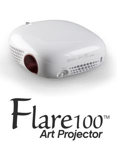 The Artograph Flare100 Art Projector - 225-100 sets the artist free with a battery-operated projector in a size to go anywhere. The Flare100 projects a sharp image from as close as four inches from your surface all the way to mural size. Artists need never be without their art portfolio or client demos with the Flare100 and a flash drive, or using the wireless screen sharing feature with Windows or Android devices. Visit www.engineersupply.com to place your order and receive free shipping!