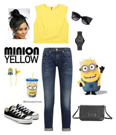 Bananaaaaaaaaa by whatsagirl2wear on Polyvore featuring Alice + Olivia, rag & bone, Converse, Marc by Marc Jacobs and ZAK #minionyellow #contest #fashion #minions #ootd #outfit #summerfashion #casual #cool #converse #aliceandolivia #marcjacobs #ragandbone