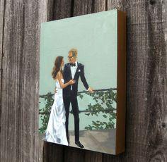 tastesorangey: custom wedding portraits