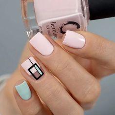 vegan & cruelty-free nail art by heroine. Cute Acrylic Nails, Cute Nail Art, Beautiful Nail Art, Spring Nail Art, Spring Nails, Stylish Nails, Trendy Nails, Nails Polish, Geometric Nail