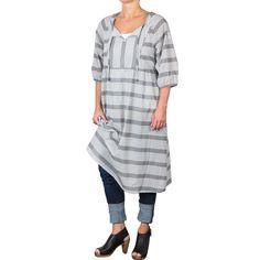 Lion dress - summerstripes dark grey