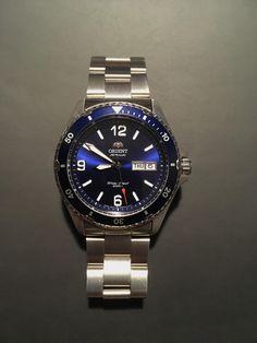 [Orient Mako Absolutely love this Watch via /r/Watches White Watches For Men, Luxury Watches For Men, Cool Watches, Rolex Watches, Rolex Submariner Blue, Swiss Automatic Watches, Orient Watch, Diesel Watch, Men Accessories