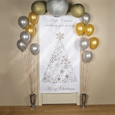 Enhance your Christmas theme with this Personalized Enchanted Christmas Door Banner. Add your own holiday message to welcome guests or members to your Christmas celebration.