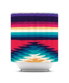This Nika Martinez original shower curtain is so vibrant and bold you'll want to hang it on the wall in your room instead of in the bathroom!
