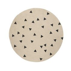 Ferm Living . Jute Rug . Black Triangles
