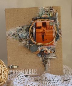 """Ready For A Few Winners? - """"Remember"""" Canvas by Achawg for Prima Blog. - Wendy Schultz ~ Prima Projects."""