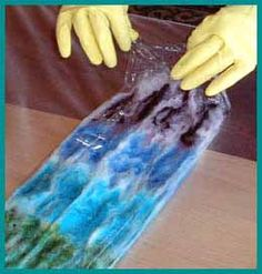 How to dye roving