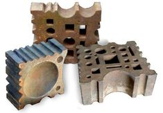 Group of three iron swage blocks. Great website with blacksmith implements. www.swageblocks.com