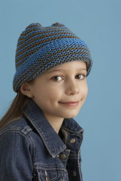 Free Knit Pattern (@Lion Brand):  Cheerful Baby Hat