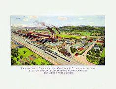 Waggonsfabrik Schlieren. ca. 1920