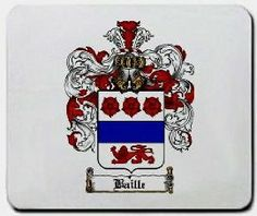 Baille Family Shield / Coat of Arms Mouse Pad $11.99