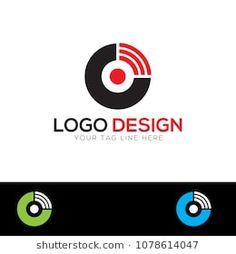 O Letter Wifi Logo Design Template Vector EPS