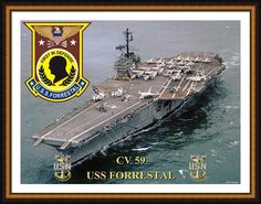 Cv-59 Uss Forrestal Framed Print By Michael Colclough