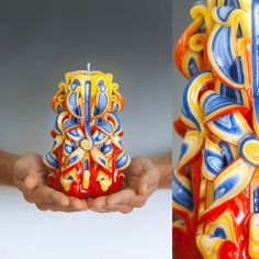 Hand Carved Candles by Natalia Burikov