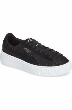 Main Image - PUMA Basket Platform Sneaker (Women) Platform Sneakers 955991826