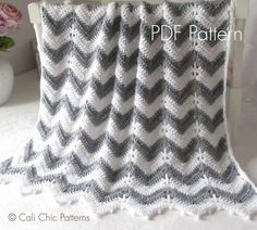 Looking for your next project? You're going to love Chevron Crochet Baby Blanket #55 CCP by designer Kyoko-CCP.