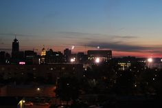 Watching the Lansing fireworks over the city of Lansing.  Lansing Michigan Skyline at Dusk | by Ariniko Artistry