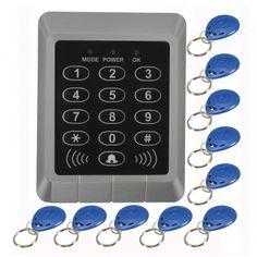RFID Security Reader Entry Door Lock keypad Access Control System+10 Pcs Keys