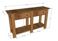I want to make this!  DIY Furniture Plan from Ana-White.com  Make this console table from lumber! Free DIY Plans!