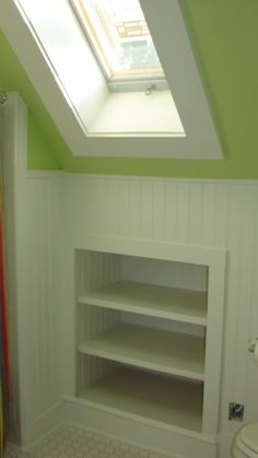 in wall shelves in dormer windows