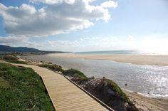 The beach in Bolonia, Cádiz, Andalusia, Spain