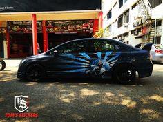 Honda Civic Doors Wrap   www.tomsstickers.com