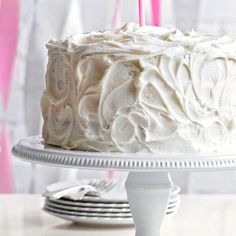 Who else wants a slice of this Classic Vanilla Cake? More of our best birthday cake recipes:  http://www.bhg.com/recipes/desserts/cakes/birthday-cake-recipes/?socsrc=bhgpin061013vanillacake=1