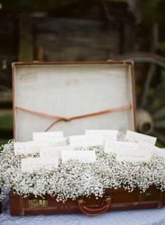 Coisas da Lívia: Malas antigas na decoração de casamento...