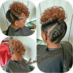 Curly hair from nature always admire both men and women. For many, they are considered the standard of beauty and femininity. Black Girl Braids, Braids For Black Hair, Girls Braids, Love Hair, Great Hair, My Hairstyle, Braided Hairstyles, Natural Hair Updo, Natural Hair Styles