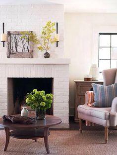 Fireplace comfort.