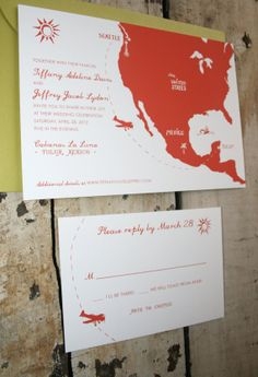 Planning a faraway wedding? These Destination Wedding Invitations ($6 to reserve) are a great way to amp up your guests for the upcoming trip.