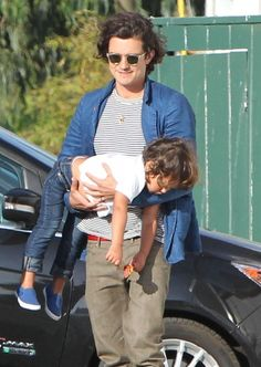 Flynn Bloom in Orlando Bloom & Son Flynn At A Friends House In Malibu