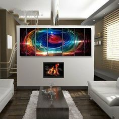 """Abstract by Ash Carl Metal Wall Art in Multi - 23.5"""" x 60"""" by All My Walls. $340.00. MASSIVE 66 INCHES WIDE 24 INCHES TALL 2 INCHES DEEP!. Signed and Dated by American Artist - Ash Carl. High Quality, Durable Painted Metal Wall Art, Made in the USA!. VERY Simple, Easy and Quick to Hang Indoors and Outdoors!. Features handsanded finish on the metal that creates a mesmerizing holographic effect!. SWS00004 Features: -Wall art.-Artist: Ash Carl.-As the light reflects..."""